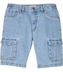 bermuda cargo in jeans regular fit (blu) - john baner jeanswear
