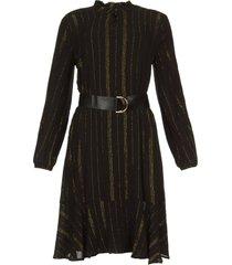jurk met lurex strepen vienna  zwart