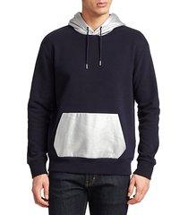 metallic colorblock hoodie