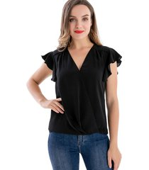 blusa escote cruzado negro nicopoly