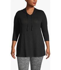 lane bryant women's active hooded swing tunic 18/20 black