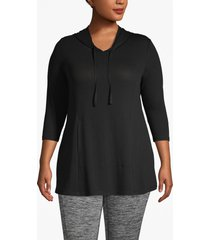 lane bryant women's active hooded swing tunic 18/20 black