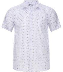 camisa print cruces color blanco, talla l