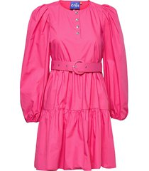 aiacras dress knälång klänning rosa cras