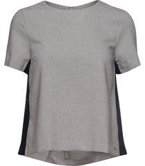 anita top ss blouses short-sleeved grå tommy hilfiger