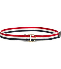 tricolour webbing stripe d ring wool belt