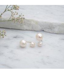 kolczyki z perłami twin - srebro