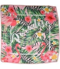 inc flamingo paradise bandanna scarf, created for macy's
