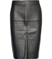 pencil knälång kjol svart mango