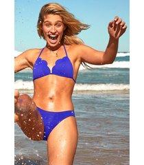 seafolly petal edge triangle bikini blue