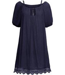 abito con pizzo e spalle scoperte (blu) - bodyflirt