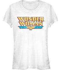 fifth sun dc wonder woman retro logo women's short sleeve t-shirt