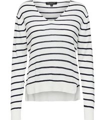 trui linel v meck knit dark sapphire stripe