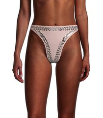 luca studded high-cut bikini bottom