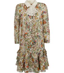 tory burch printed all-over mid-length dress