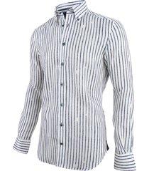 cavallaro cavallaro overhemd lino blauw wit 1091036-10632