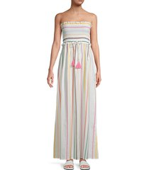 stephanie strapless multicolor stripe maxi dress