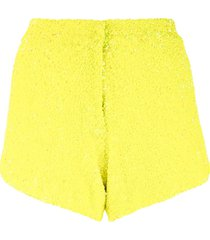 manish arora high-rise sequin-embroidered shorts - yellow