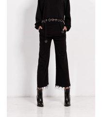spodnie szerokie z kółeczkami
