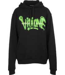 black and fluo green man visione hoodie