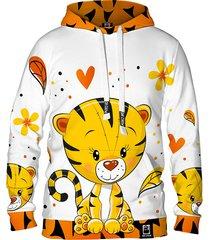 damska bluza z kapturem dr.crow cute tiger