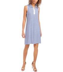 msk petite striped dress