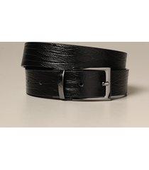 emporio armani belt reversible emporio armani belt in calfskin with reptile print