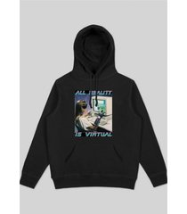 bluza all reality black hoodie