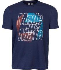 camiseta estampada made in mato multicolorido