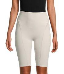 vimmia women's biker-x high-rise bike shorts - stone - size l