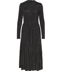 kamolly midi dress maxiklänning festklänning svart kaffe