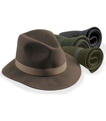 packable felt hat, black, medium