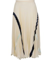 see by chloé embellished georgette skirt