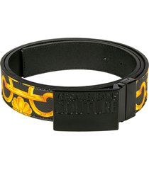 versace jeans couture couture square buckle belt