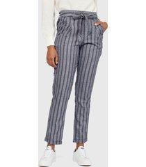 pantalón wados listado acero - calce ajustado