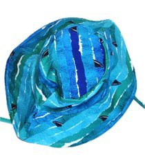 chapeu com proteção solar ecotrends barbatana azul