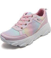 tenis moda dama sneakers  tellenzi 4030 rosado