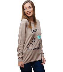 sweater beige oma fresia love