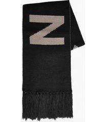mens nicce black logo scarf