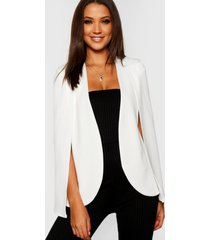 tall cape blazer, ivory