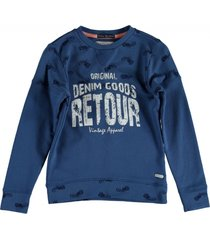 retour blauwe sweater