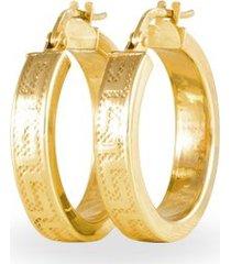 orecchini a cerchio in oro giallo per donna