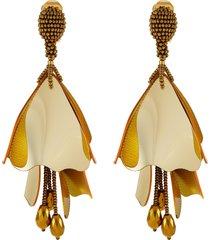 impatiens clip earrings