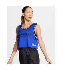 regata cropped nike sportswear feminina
