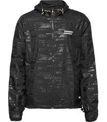 active lightweight shell jacket tunn jacka svart superdry