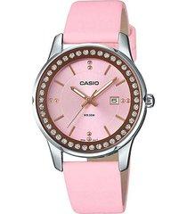 reloj casio ltp-1358l-4a2 analogo  100% original-rosa