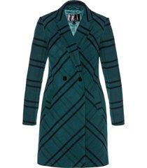 cappotto in simil lana a quadri (petrolio) - bpc selection