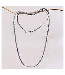 sterling silver chain necklace, 'naga tradition i' (indonesia)