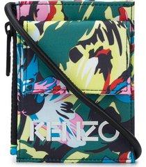 kenzo x vans floral-print lanyard pouch - green