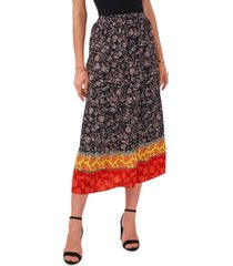 vince camuto floral divine tiered maxi skirt